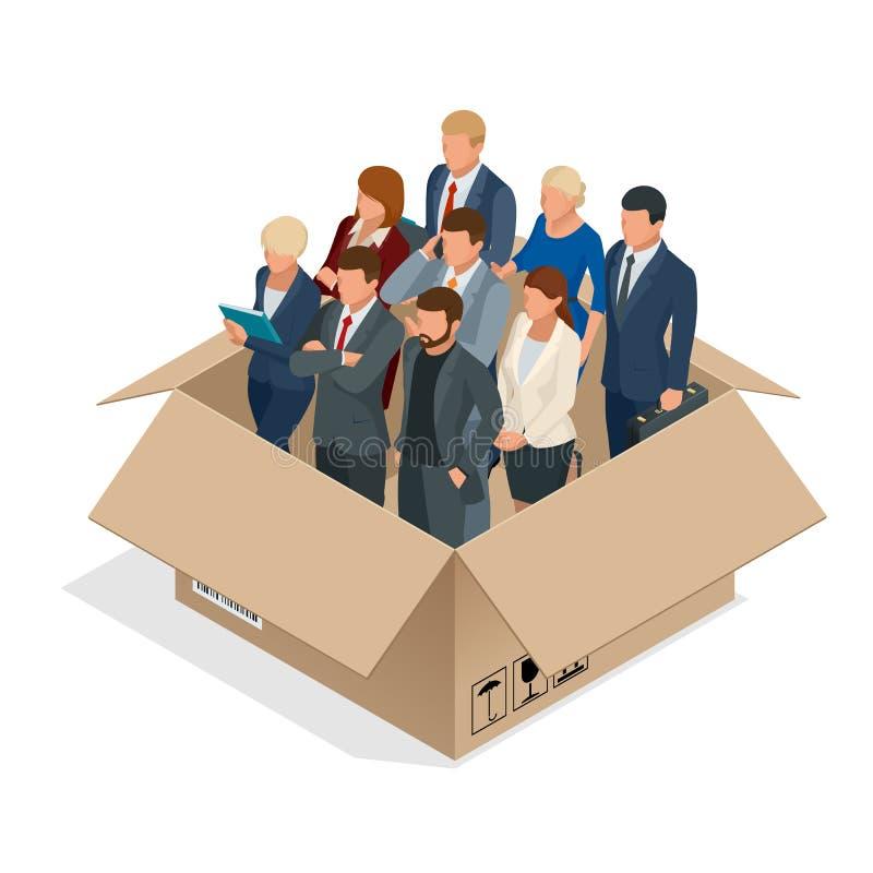 Yrkesmässigt affärslagbegrepp Mång--kulturell kontorspersonal Det isolerade affärslaget stock illustrationer