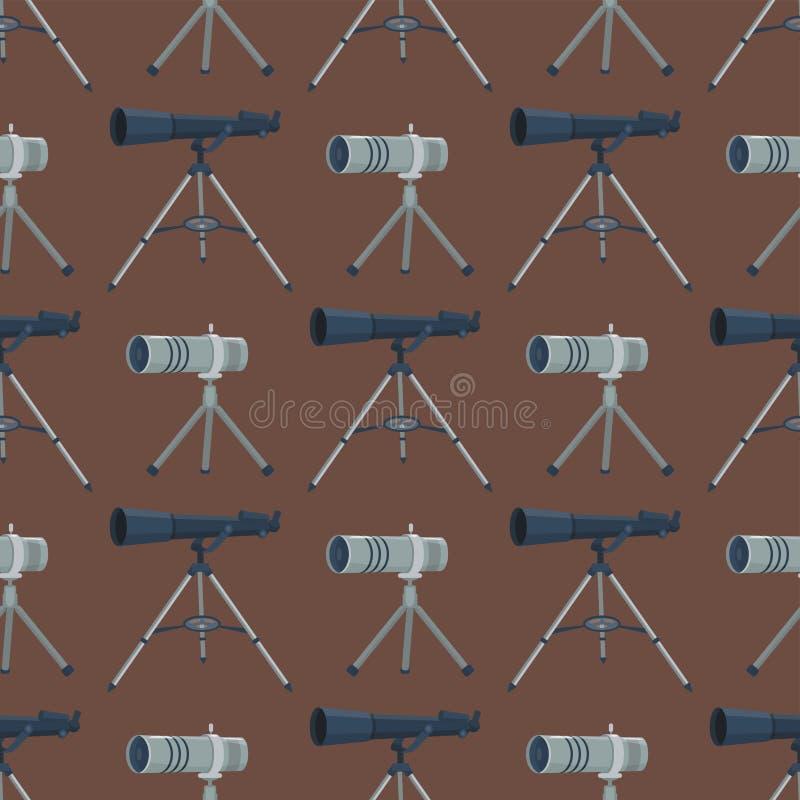 Yrkesmässigt sömlöst modellteleskopexponeringsglas blick-ser utrustning för den digitala fokusen för kameran för kikareoptikappar royaltyfri illustrationer