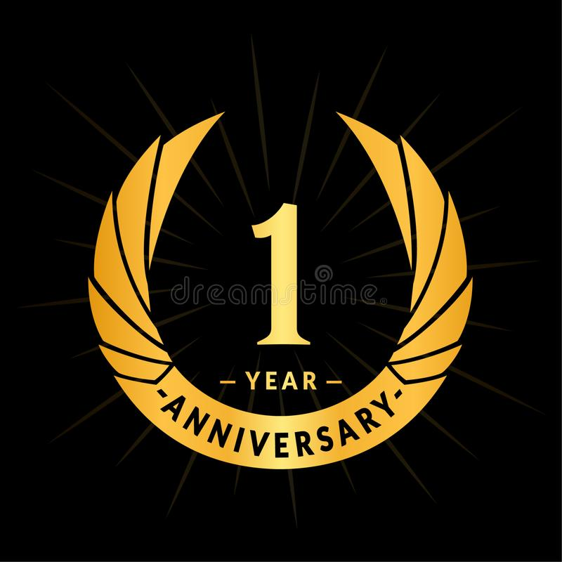 1 year anniversary design template elegant anniversary logo design one year logo stock vector illustration of label company 135162163 1 year anniversary design template