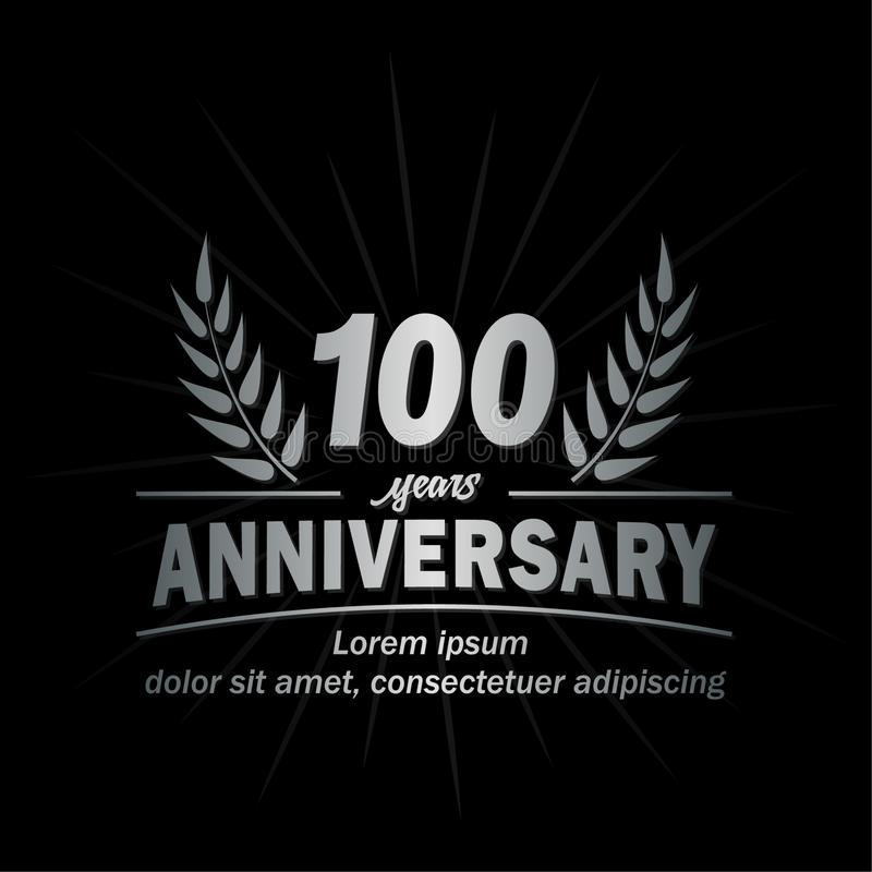 100 th anniversary design template. 100th years vector and illustration. vector illustration