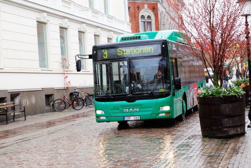 Ystad miasta autobus fotografia stock