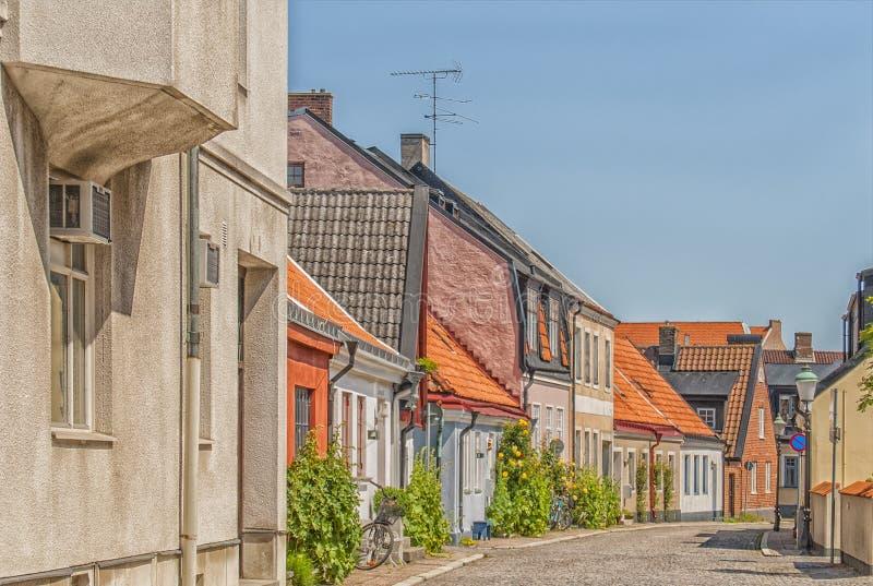 Ystad Street Scene. Street scene from the Swedish town of Ystad royalty free stock images