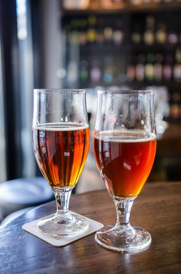 Żyta piwo i uwędzony piwo fotografia stock