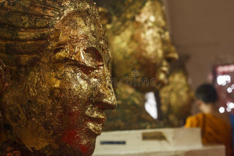 Ytan Monk i Bangkok royaltyfri fotografi