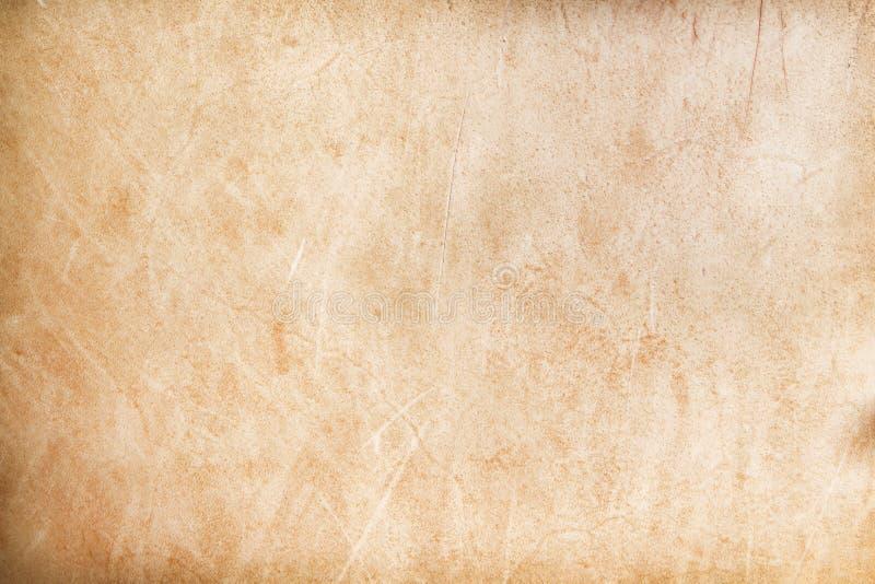Ytbehandla brunt grungeläder av den gamla valsen för bakgrund, naturligt modellabstrakt begrepp royaltyfri fotografi