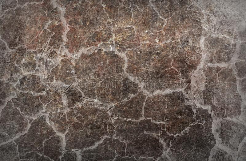Ytbehandlar den begreppsmässiga skrapamodellen för den spruckna smutsiga väggen abstrakt texturbakgrund royaltyfria bilder
