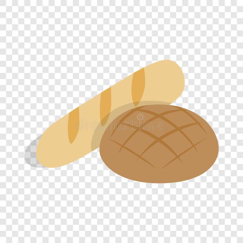 Żyto bochenka i chleba isometric ikona ilustracja wektor