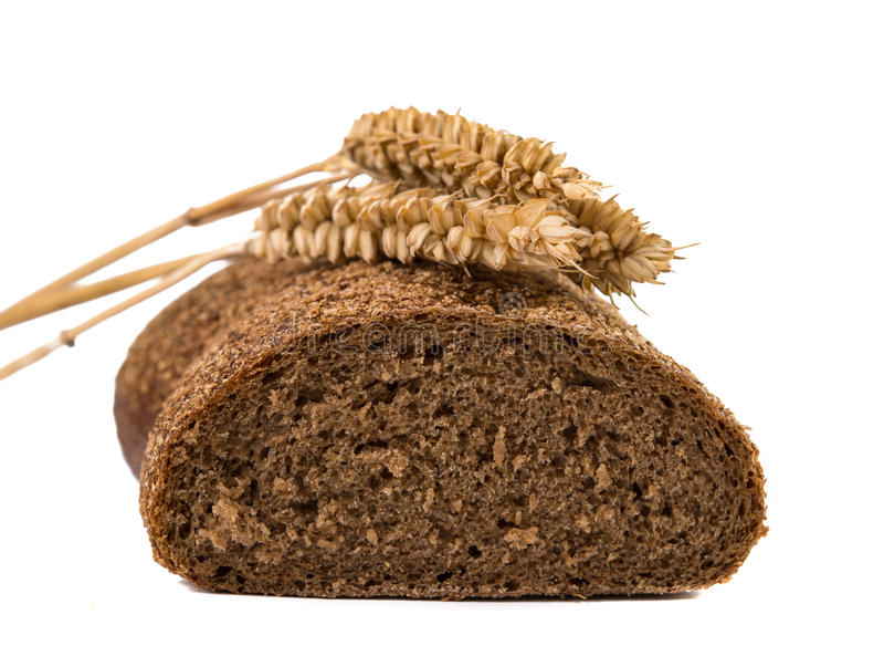 Żyto chleb odizolowywający zdjęcie stock
