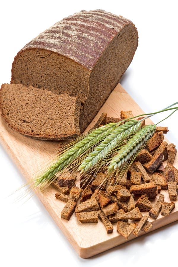 Żyto ucho i chleb obrazy stock