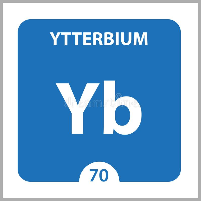 Ytterbium Chemical 70 élément du tableau périodique Contexte De La Molécule Et De La Communication Ytterbium Chemical Yb, laborat illustration de vecteur