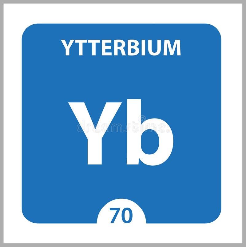 Ytterbium Chemical 70 elemento del cuadro periódico Fondo De Molécula Y Comunicación Yb, laboratorio y ilustración del vector