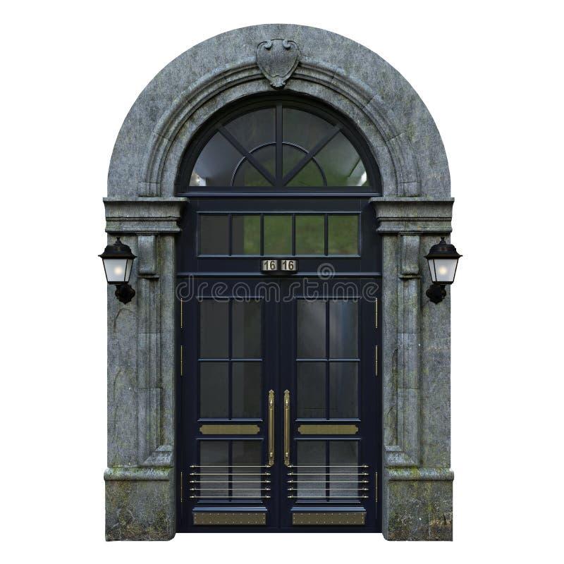 ytterhassan ii morocco för casablanca dörringång moské vektor illustrationer