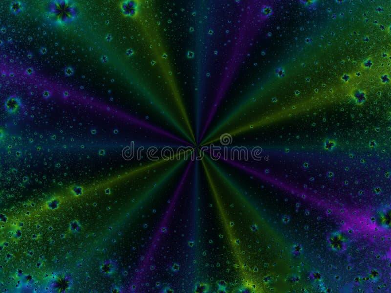ytterkant avstånd för asteroidfält vektor illustrationer