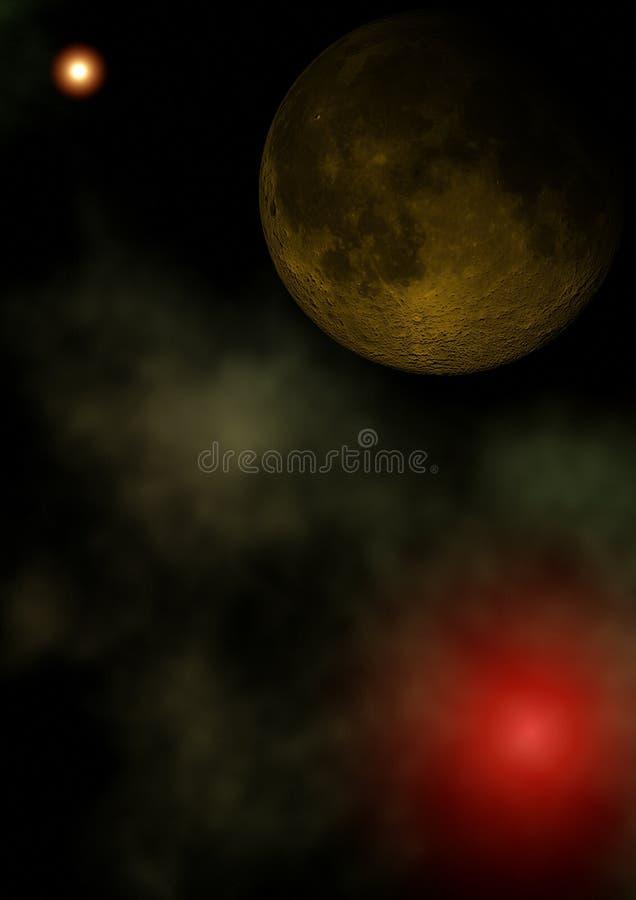 ytterkant avstånd för mörk moon vektor illustrationer