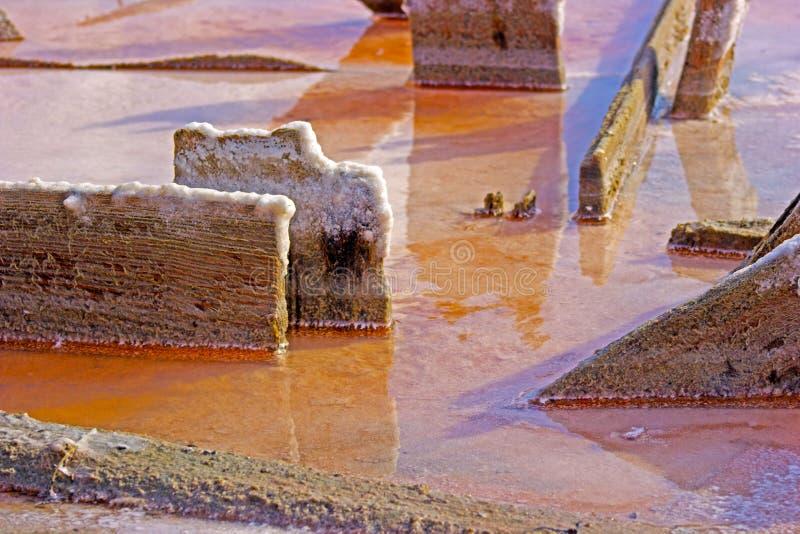 Yttersida av den förtorkade salta sjön fotografering för bildbyråer
