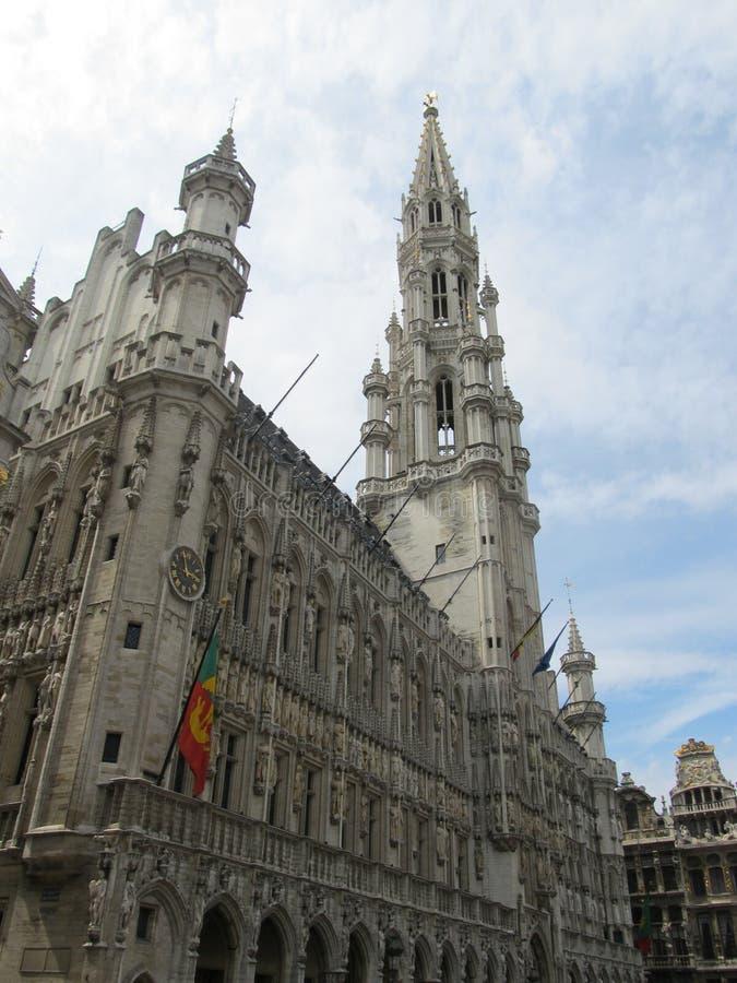 Yttersida av den fantastiska portugisiska domkyrkan arkivfoton