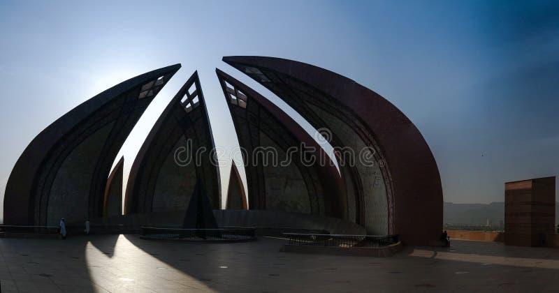 Yttersida av den nationella monumentet, Islamabad Pakistan arkivbild