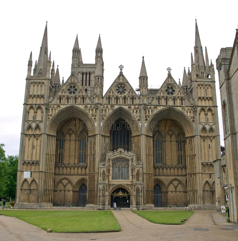 Yttersida av den Peterborough domkyrkan royaltyfria foton