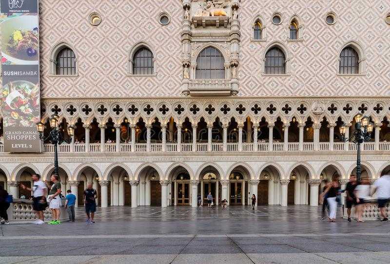 Yttersida av den Venetian Las Vegas royaltyfri fotografi