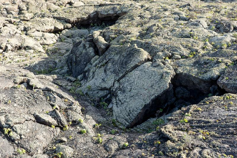 Yttersida av djupfryst lava arkivbild