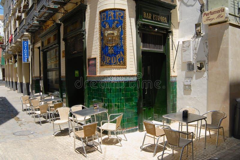 Yttersida av Europastången i Seville, Spanien arkivfoton
