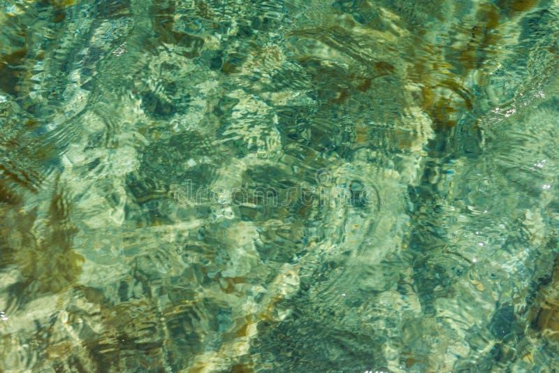 Yttersida av havet med en reflexion abstraktion arkivbild