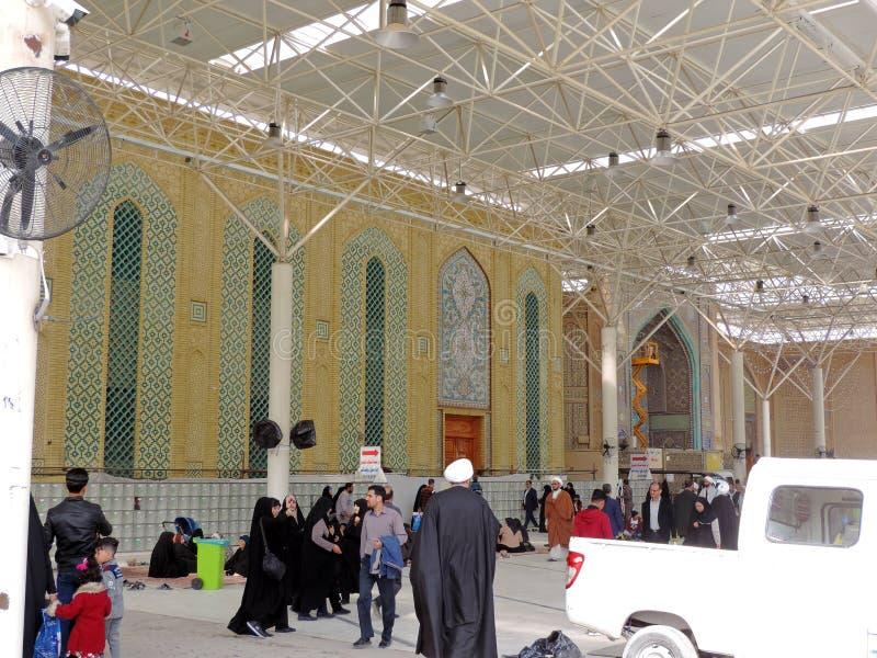 Yttersida av imamen Ali Mosque fotografering för bildbyråer