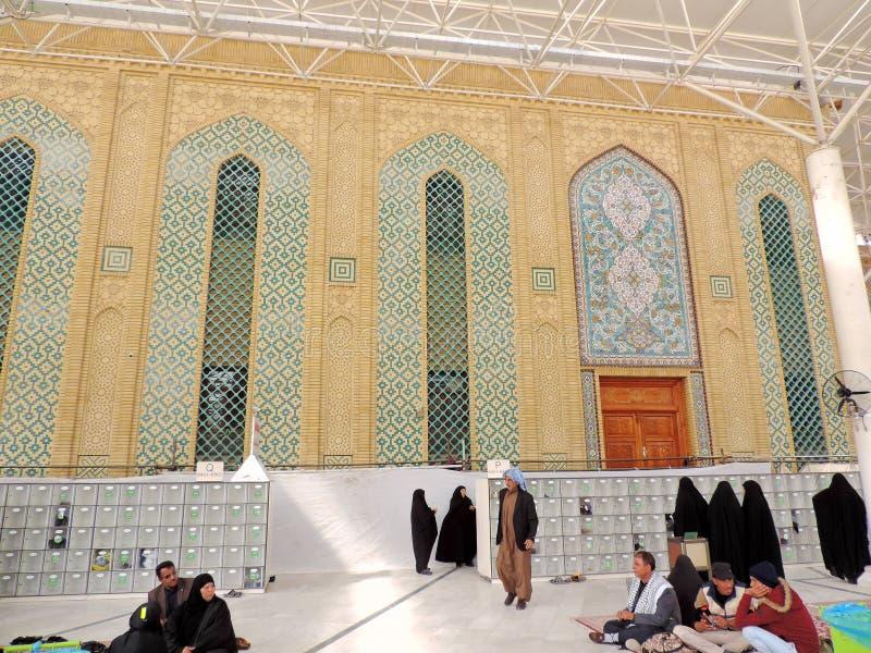 Yttersida av imamen Ali Mosque royaltyfria foton