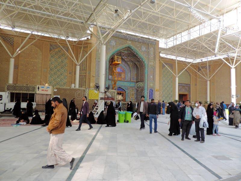 Yttersida av imamen Ali Mosque arkivfoto