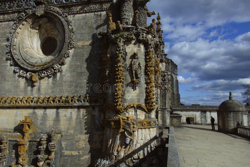 Yttersida av kloster av Kristus Tomar Portugal royaltyfria foton