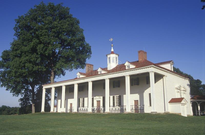 Yttersida av Mt Vernon Virginia, hem av George Washington royaltyfri fotografi