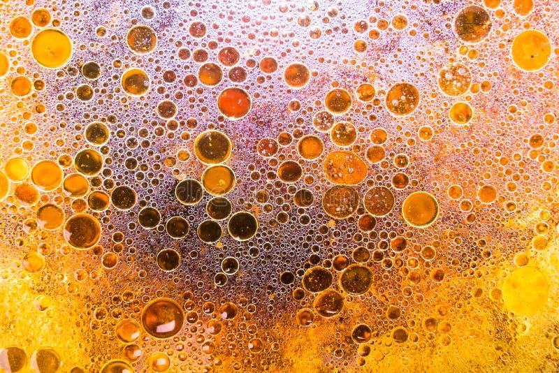 Yttersida av vatten och olja fotografering för bildbyråer