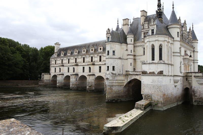 Yttersida Chateau de Chenonceau, Vallee de la Loire, Frankrike royaltyfria foton
