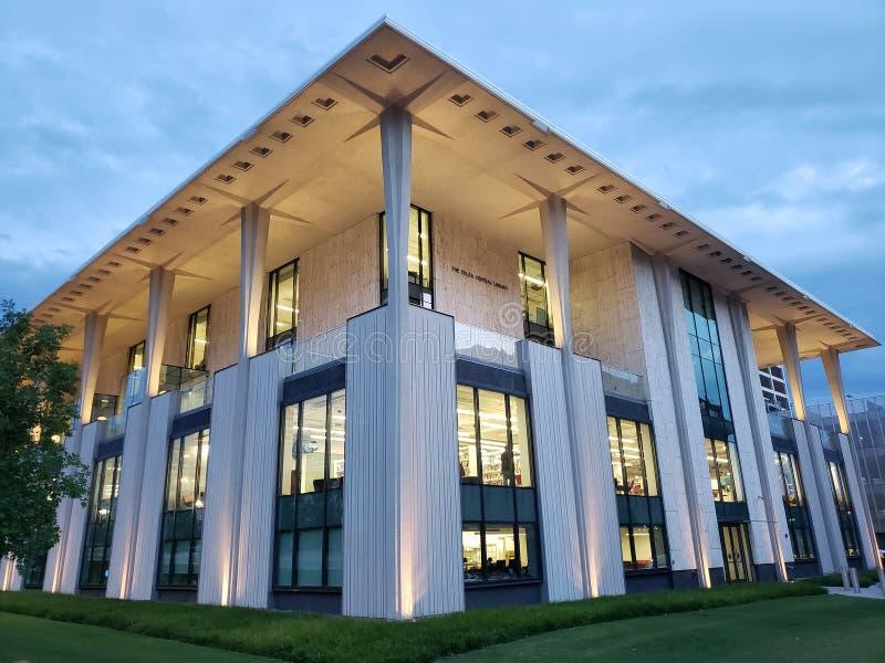Yttersida för centralt arkiv, stad Tulsa Oklahoma USA arkivfoto