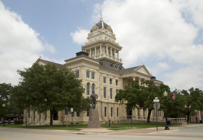 Yttersida för historisk byggnadBell County domstolsbyggnad arkivbild