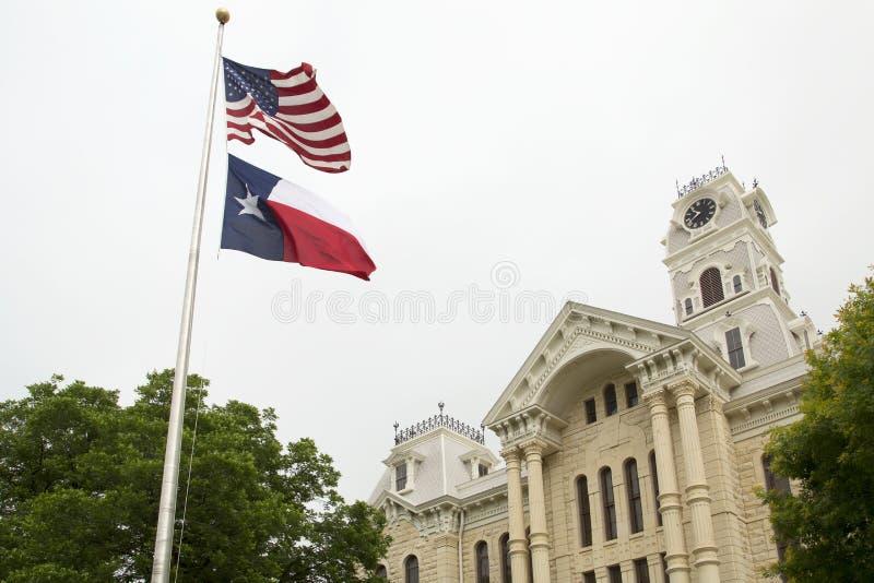 Yttersida för historisk byggnadHill County domstolsbyggnad royaltyfri foto