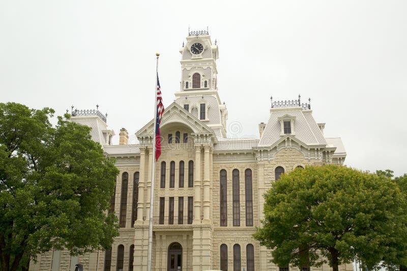 Yttersida för historisk byggnadHill County domstolsbyggnad royaltyfria bilder