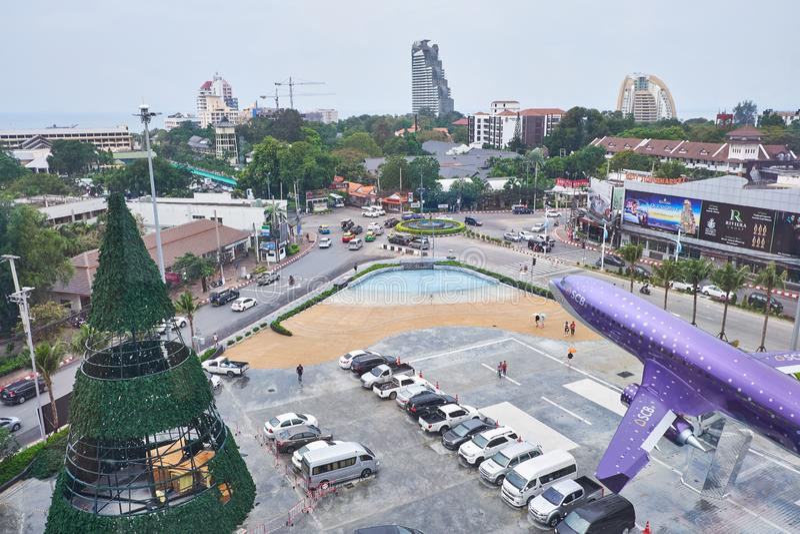 Yttersidan på terminalen 21 Pattaya arkivbilder