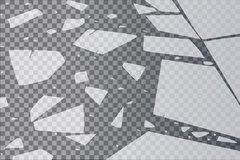 Yttersidatexturen knäckas på is som isoleras på en genomskinlig bakgrund också vektor för coreldrawillustration broken exponering royaltyfri illustrationer