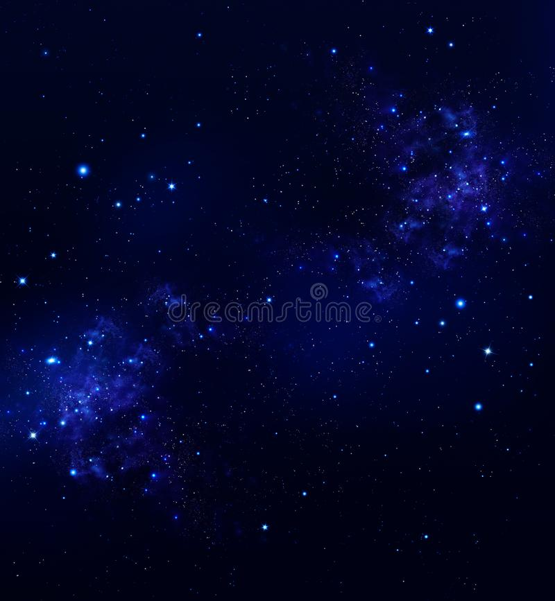 Yttre rymd för himmel för stjärnklar natt djup vektor illustrationer