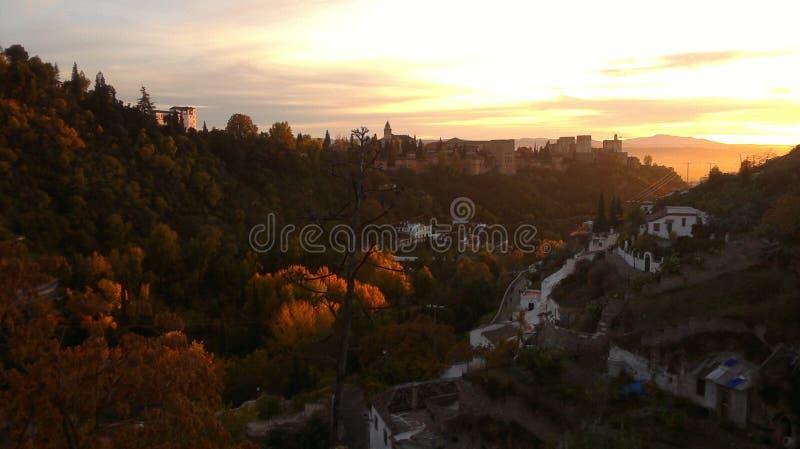 Yttre sikt av Alhambra royaltyfri fotografi