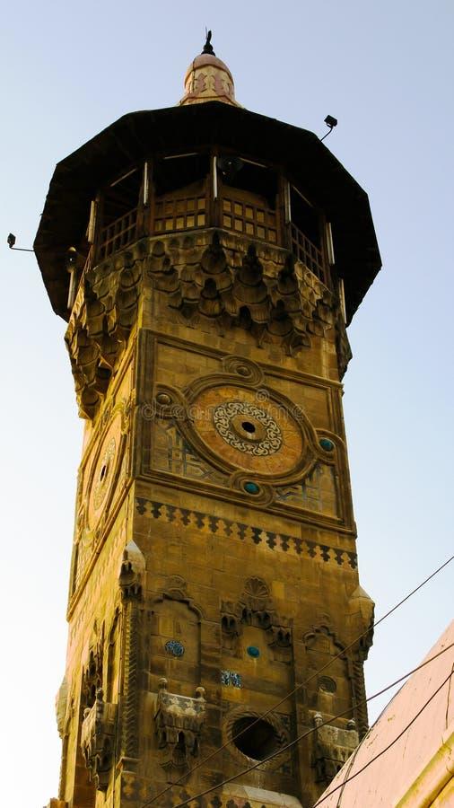 Yttre sikt till den gamla al-Qalaimoskén, Damascus, Syrien royaltyfria foton