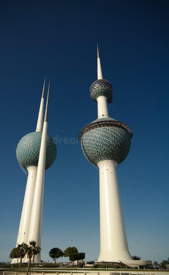 Yttre sikt till Kuwait för sötvattenbehållare aka torn 07 01 Kuwait 2015 arkivbilder