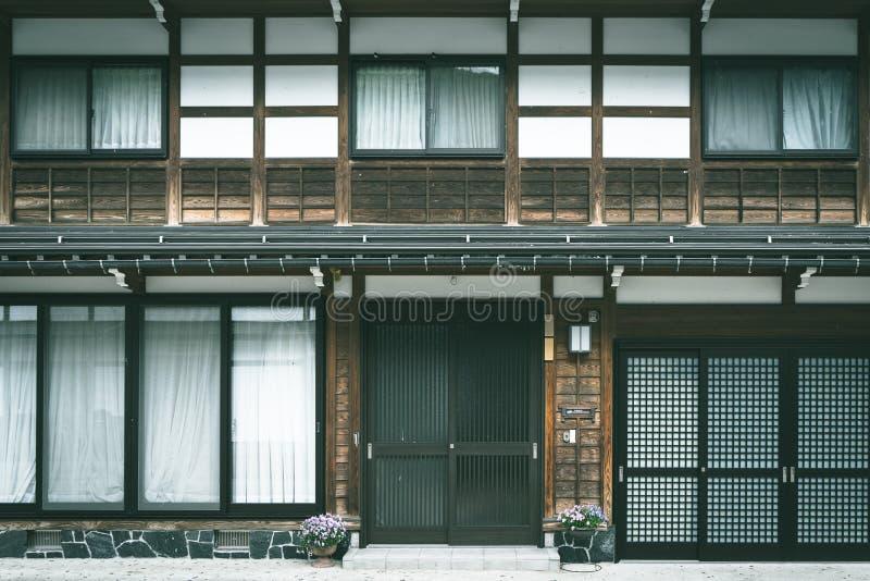 Yttre traditionellt hus för japansk stil royaltyfri fotografi