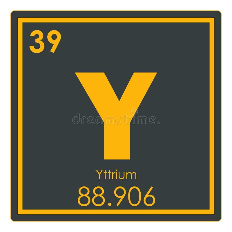 Yttrium chemical element stock illustration