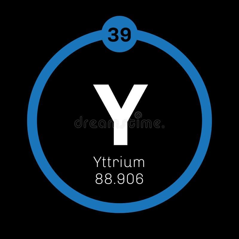 Yttrium Chemical Element Stock Vector Illustration Of Scientific