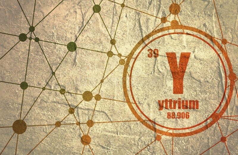 Yttrium chemical element. stock illustration