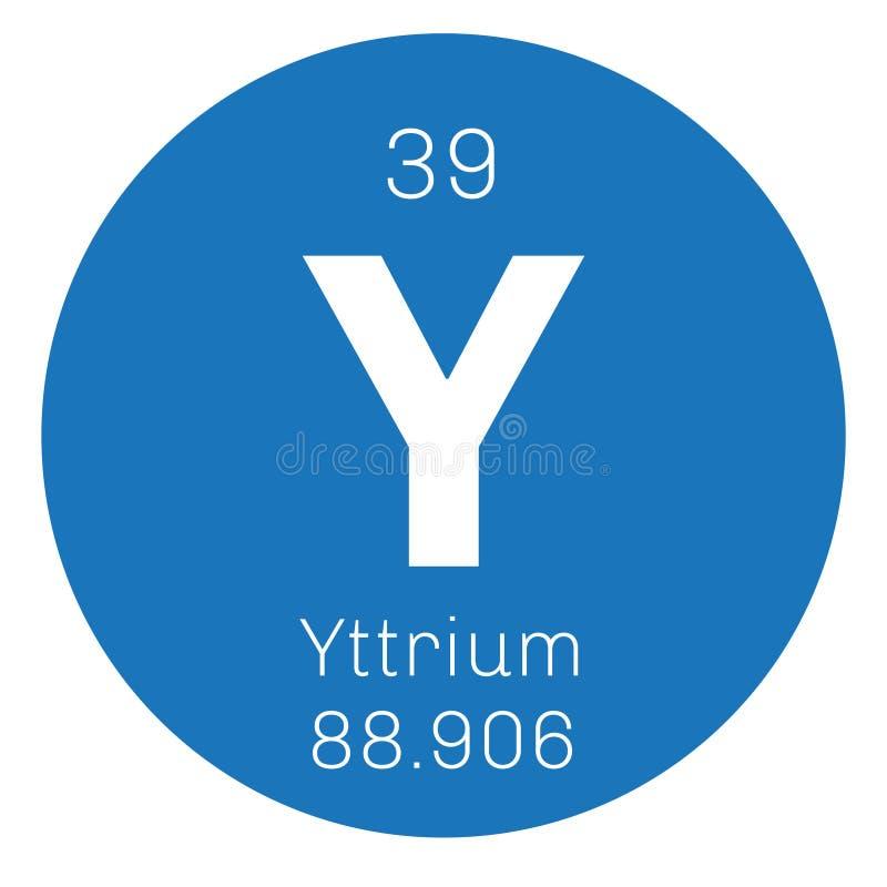 Yttrium chemisch element royalty-vrije illustratie