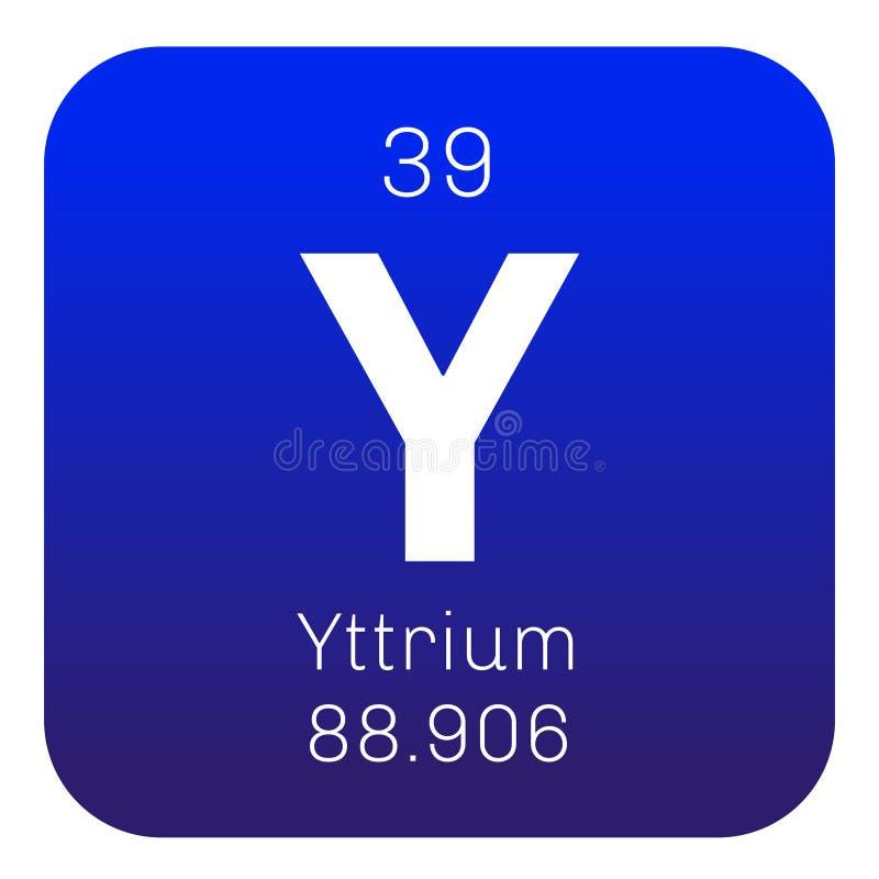 Yttrium chemisch element vector illustratie