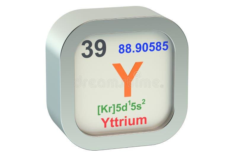 Yttrium 3d royalty free illustration